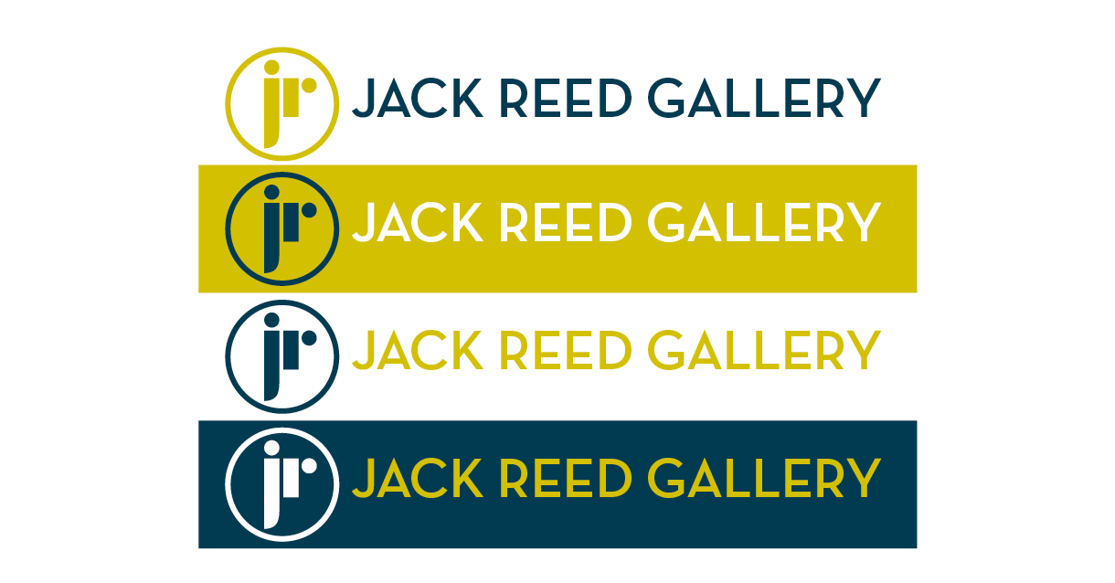 Four alternative colour options for the Jack Reed logo.