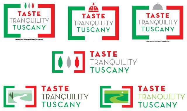 Taste Tranquility Tuscany logo design, second visual