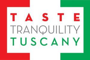 Taste Tranquility Tuscany logo design, first visual