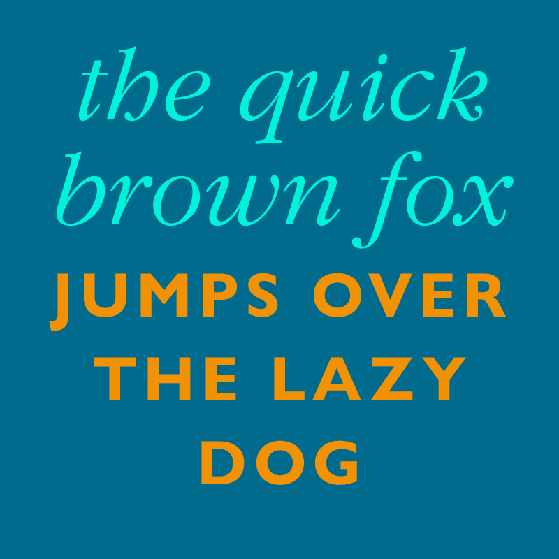 Example of font pairing
