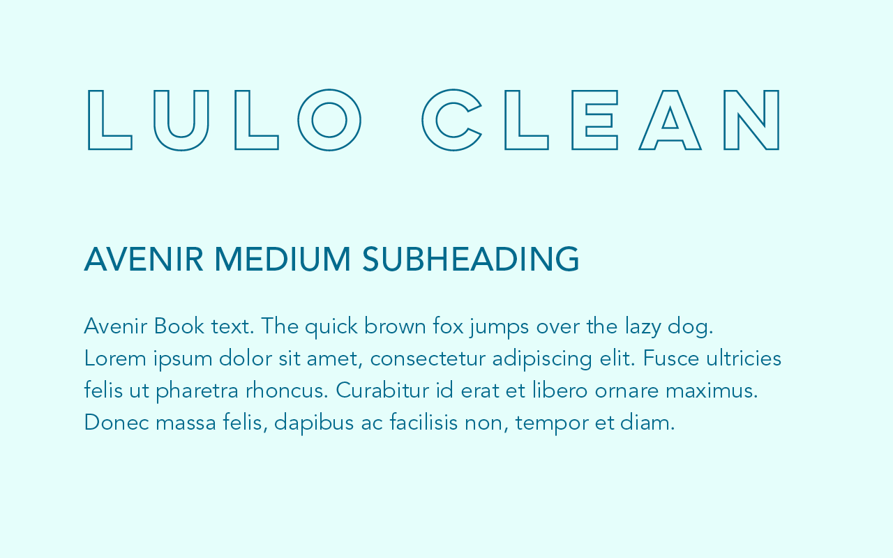 Font pairing of Lulo Clean and Avenir