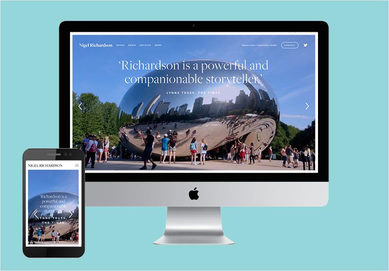 Website design for writer journalist playwright Nigel Richardson