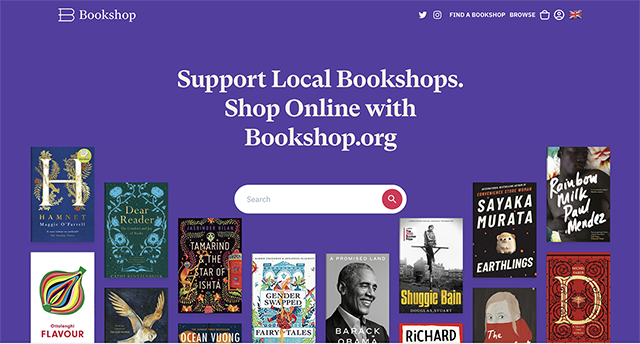 Bookshop.org website title page