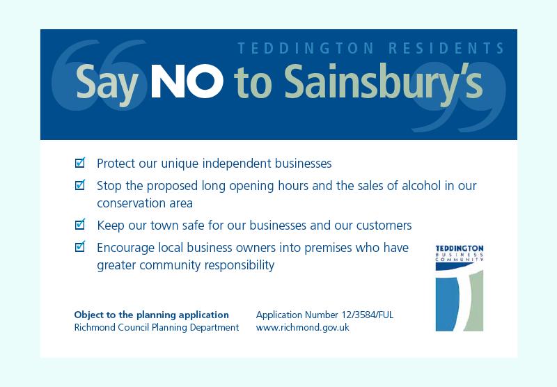 Teddington Business Community campaign postcard