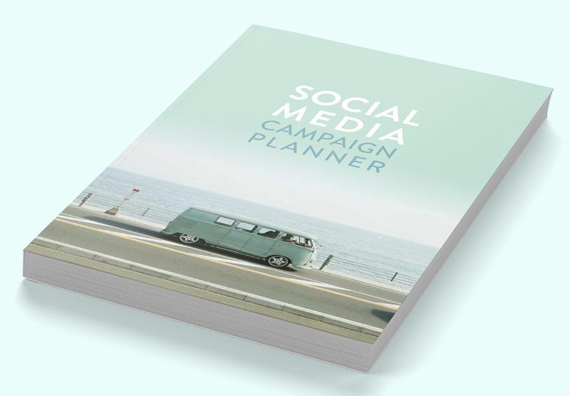 Social media campaign planner (green retro style)