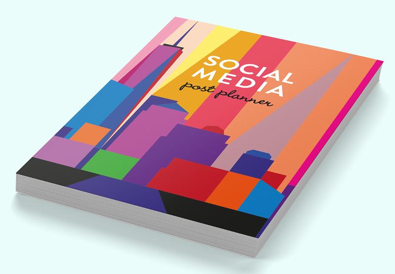 Social media post planner with Manhattan Skyline cover