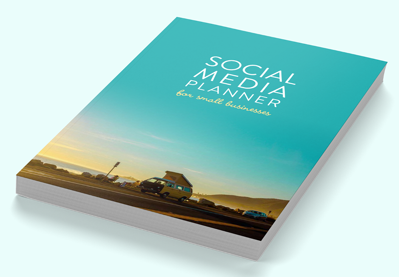 Social media planner for small businesses (Teal)