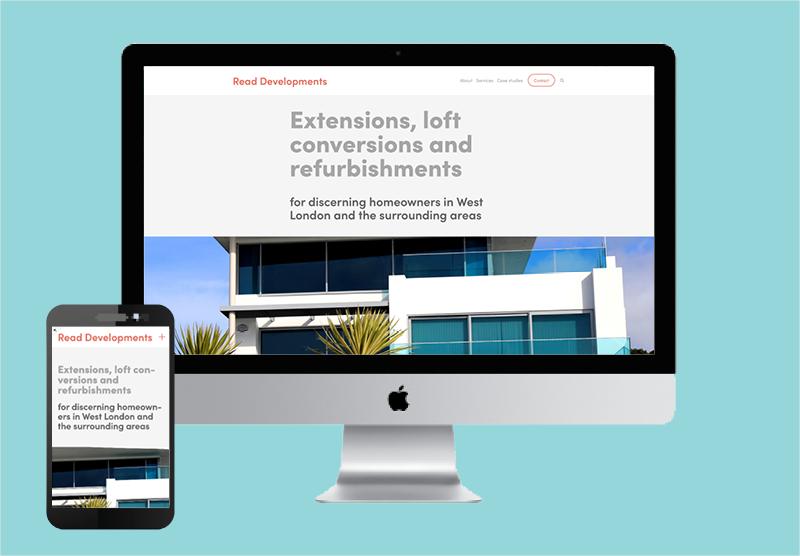 Website design for Teddington builder Read Developments