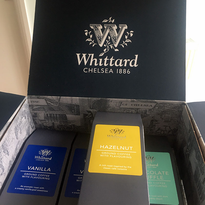 Whittard packaging