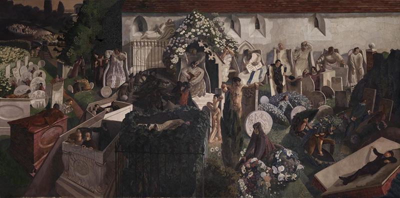 The Resurrection, Cookham 1924-7 by Sir Stanley Spencer