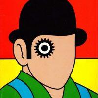 Detail from David Pelham's paperback book cover design for A Clockwork Orange